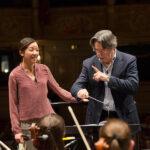 Riccardo Muti con Erina Yashima.