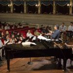 Prove cantanti al pianoforte con Riccardo Muti, i Direttori e il Maestro Collaboratore Giorgio Martano.