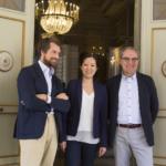 Domenico Muti, direttore generale della RM Italian Opera Academy, Erina Yashima, direttrice d'orchestra e allieva effettiva del 2015, Angelo Nicastro, membro della commissione esaminatrice*.