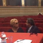 Riccardo Muti con Renata Scotto durante la Riccardo Muti Italian Opera Academy 2016.